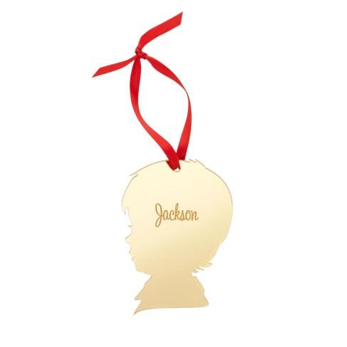 Boy Silhouette Acrylic Ornament