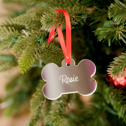 Dog Bone Acrylic Ornament