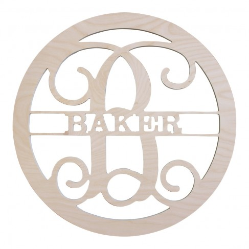 Name Design Wood Monogram