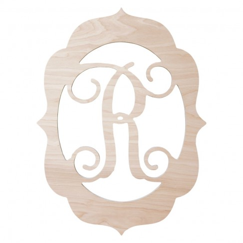 Fancy Frame Wood Monogram