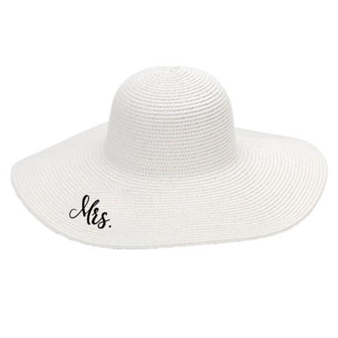 White Mrs. Floppy Hat