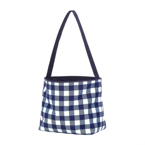 Navy Check Easter Bucket