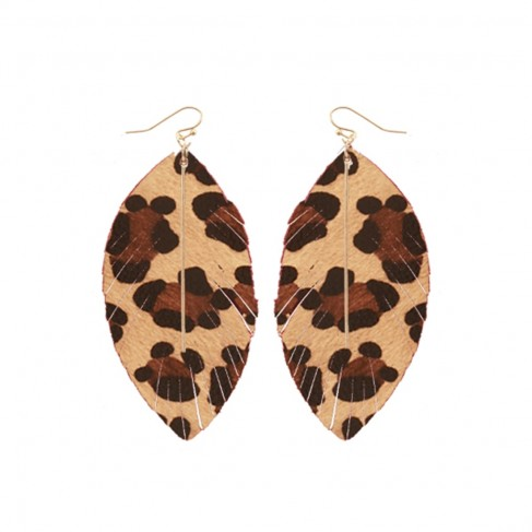 Leopard Heather Earrings